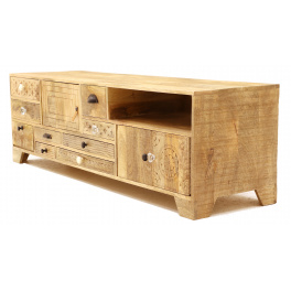 TV stolík Manu 160x45 z mangového dreva