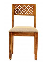 Stolička Mira s čalúneným sedákom z indického masívu palisander