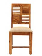 Stolička s čalúneným sedákom z indického masívu palisander