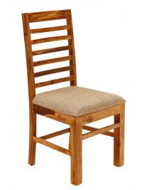 Stolička Rami s čalúneným sedákom z indického masívu palisander