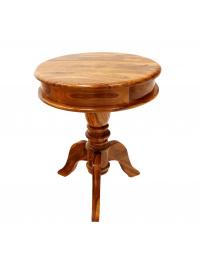 Okrúhly stolík Jali z indického masívu palisander