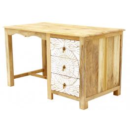 Písací stôl Sita 130x76x70 indický masív mango