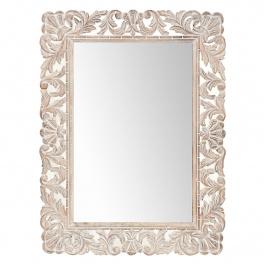 Zrkadlo Retro 60x90 ručne vyrezávané z masívu mango
