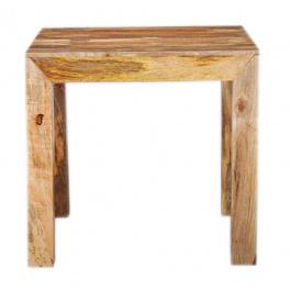 Jedálenský stôl 80x80 z indického masívu Mango
