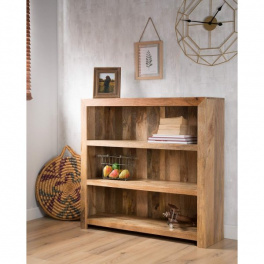 Knižnica Hina 100x120x35 z mangového dreva