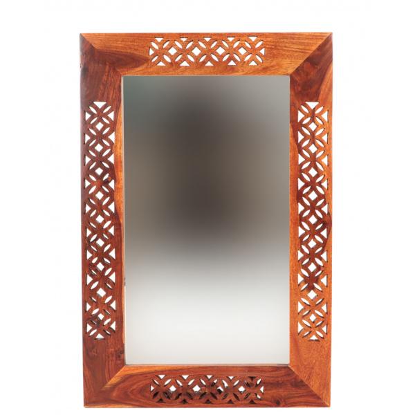 indickynabytok.sk - Zrkadlo Mira 90x60x2,5 indický masív palisander Only stain