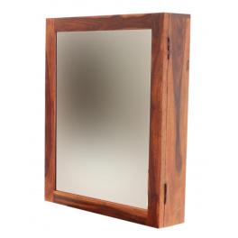 Skrinka so zrkadlom do kúpeľne 65x80x15 indický masív palisander