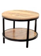Guľatý konferenčný stolík Retro 60x45x60 z mangového dreva