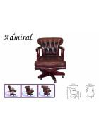 Kancelárska stolička Chesterfield z pravej hovädzej kože