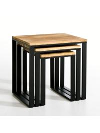 Odkladacie stolíky 3 ks Gita z mangového dreva