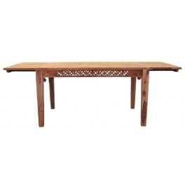 Rozkladací stôl Mira 140/220x90 indický masív palisander