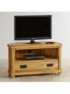 TV stolík rohový Devi z mangového dreva