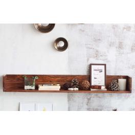 Police na stenu Rami 150x22 z indického masívu palisander