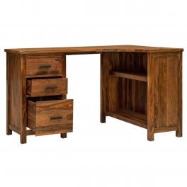 Písací stôl rohový z indického masívu palisander