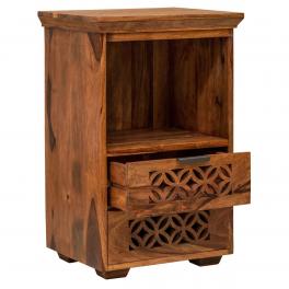 Nočný stolík Mira z indického masívu palisander