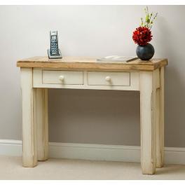 Konzolový stôl Dhar White z mangového dreva