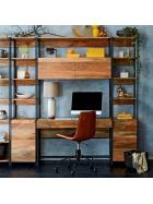Písací stôl s knižnicou Gita z masívu mango