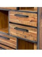 Knižnica  Rustik z akáciového dreva