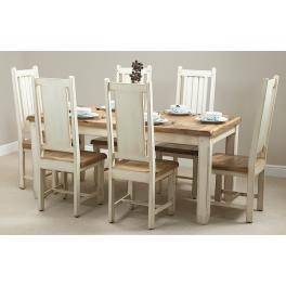Jedálenský stôl Dhari White 140x90 z mangového dreva