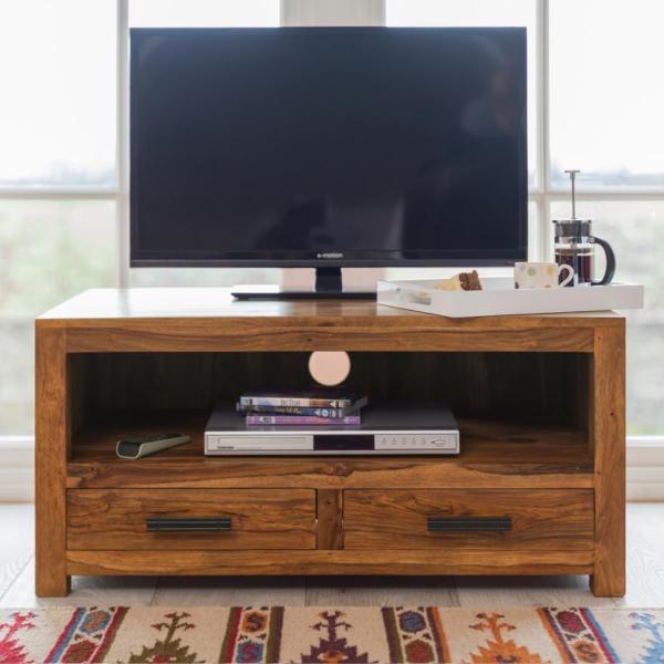 indickynabytok.sk - TV stolík Rami 120x50x45 indický masív palisander Svetlomedová