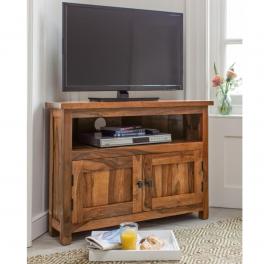 TV stolík rohový Rami z indického masívu palisander