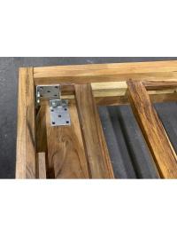 Posteľ Rustik z akáciového dreva